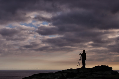 MJ On Land's End, Photographing The Sunset