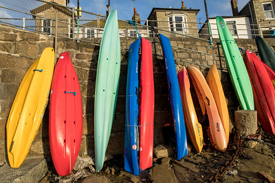 Surfboards In Mousehole Harbour