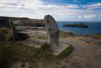 A Lonely Bench At Mullion Cove