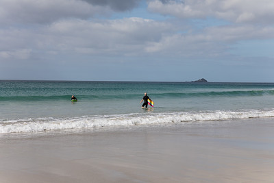 Surfers At Sennen Cove