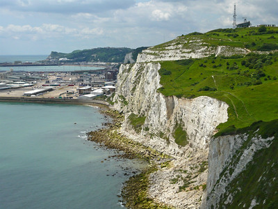 Dover harbour manages to spoil the beautiful view from the cliffs a bit