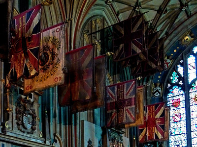 Canterbury Cathedral - ancient flags
