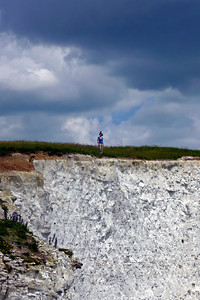That's me looking tiny against the dimensions of the cliffs