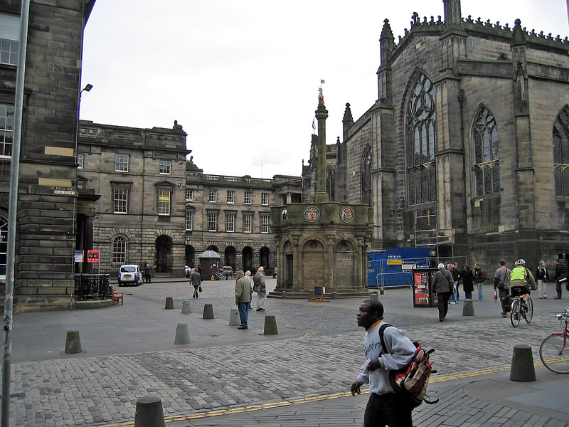 Sept. 27/07 - The Mercat Cross on the Royal Mile, Edinburgh