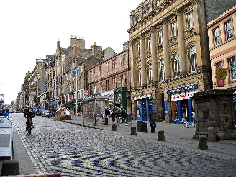 Sept. 27/07 - Looking up The Royal Mile, Edinburgh