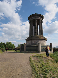 The Dugald Stewart Monument On Calton Hill