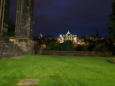 The Scott Monument & The Scotsman Hotel