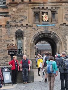 Entering Edinburgh Castle