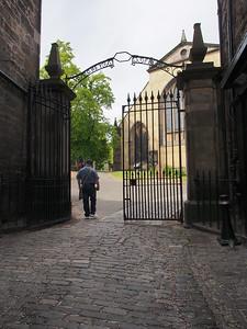 Entering Greyfriars Kirkyard