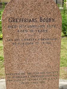 Gravesite of Greyfriars Bobby
