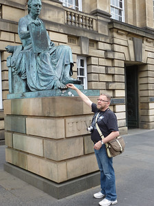 Statue of David Hume on The Royal Mile