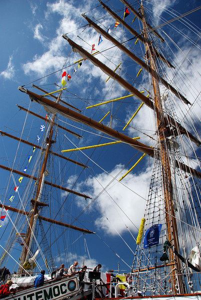023 Tall Ship Cuauhtemoc moored at Liverpool prior to the Tall Ships Race