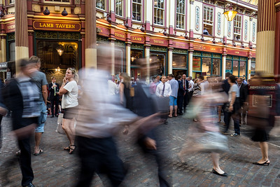 Busy Crowds In Leadenhall Market