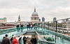 Millenium Bridge and View of St. Paul's Cathedral, London