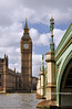 029 Westminster Clock Tower (Big Ben) and Westminster Bridge, London