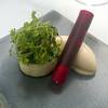 celery, goat's cheese, horseradish