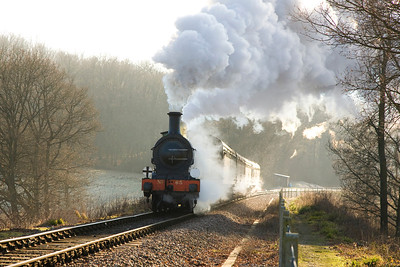 The Bluebell Railway on a frosty mornin