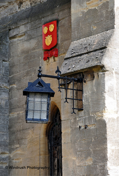 008 Detail above doorway, Exeter College, Oxford
