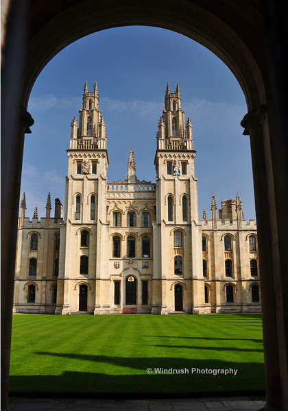 035 North Quad of All Souls College, Oxford (Ivory Towers of Academia)