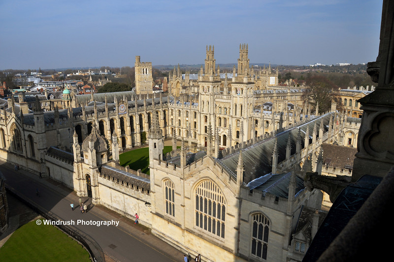 056 Aerial View of All Souls College, Oxford
