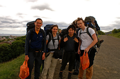Hiking in Scotland with Zong, Olaf and Daniel, 2009
