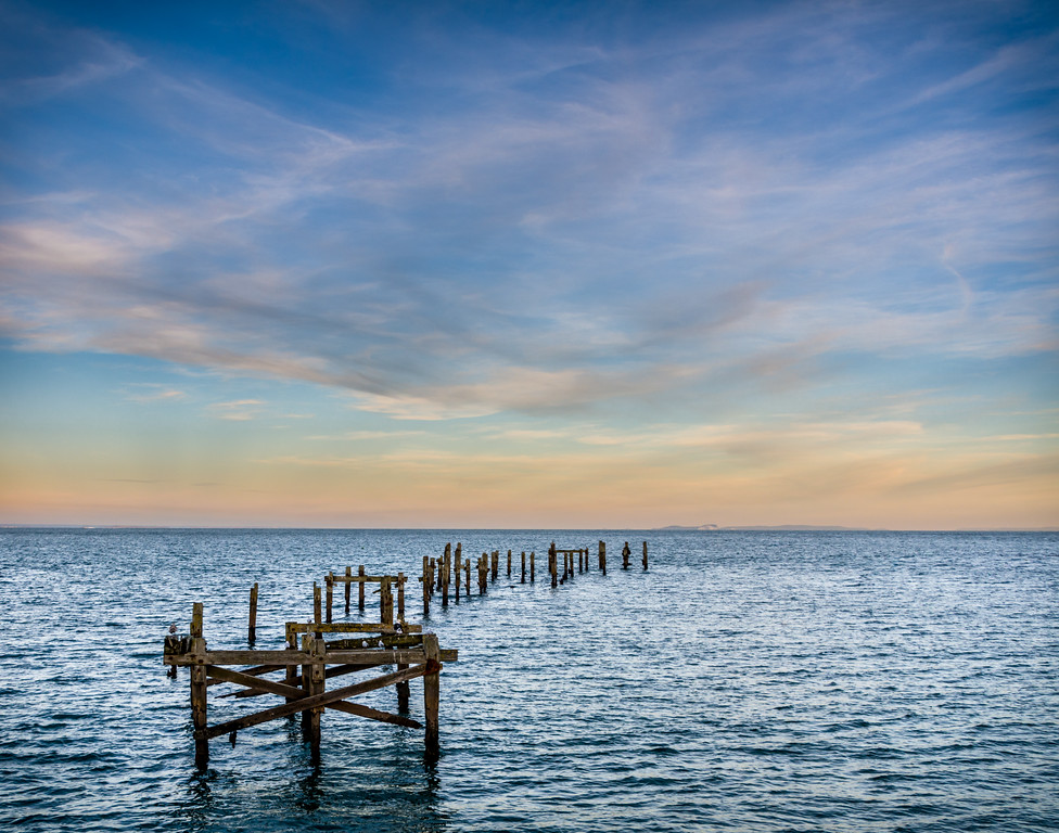 Old Pier at Sunset, Swanage