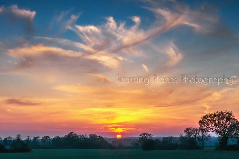 Dunsden Brush Stroke Sunset