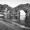 Durdle Door, black & white