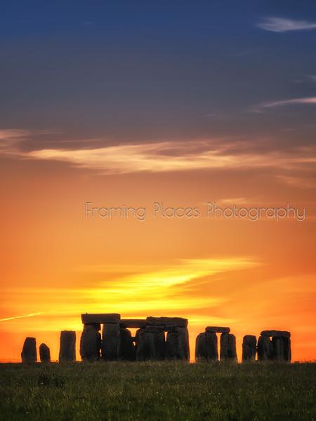 Stonehenge Sunset Portrait