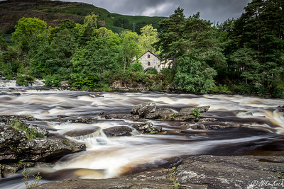 Falls of Dochart and mill