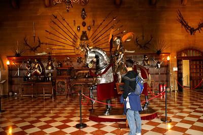 Jörg admiring the armour