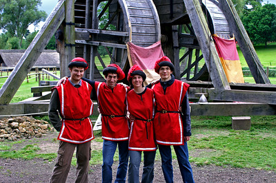 The four of us volunteering to run the Trebuchet