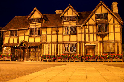"Shakespeare's birthplace in Stratford, after watching ""The Merchant of Venice"" played by the Royal Shakespeare Company"