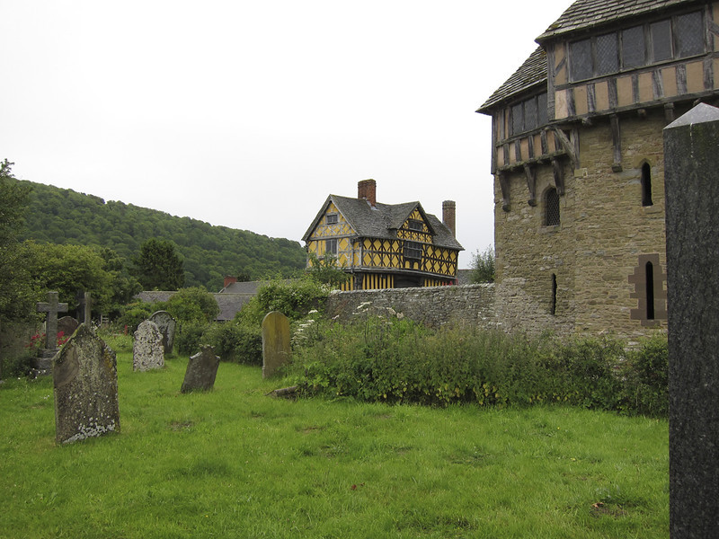 Stokesay Castle (fortified home), built 1284