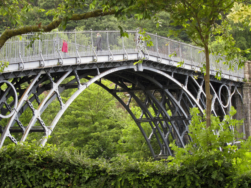 Iron Bridge, built 1779--first iron bridge