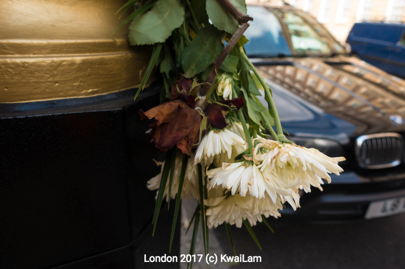 Signpole Altar of Flowers, London