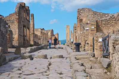 One of the side streets at UNESCO #829, Archaeological Area of Pompei