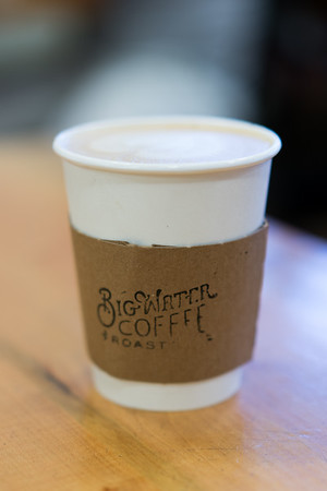 Sugarbush Latte at the Big Water Coffee Roasters