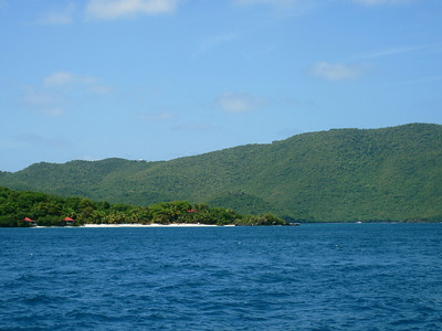 Just sailin past a pretty beach.  BVI