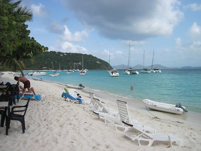 White Bay, Jost Van Dyke BVI - Home of the Soggy Dollar Bar.