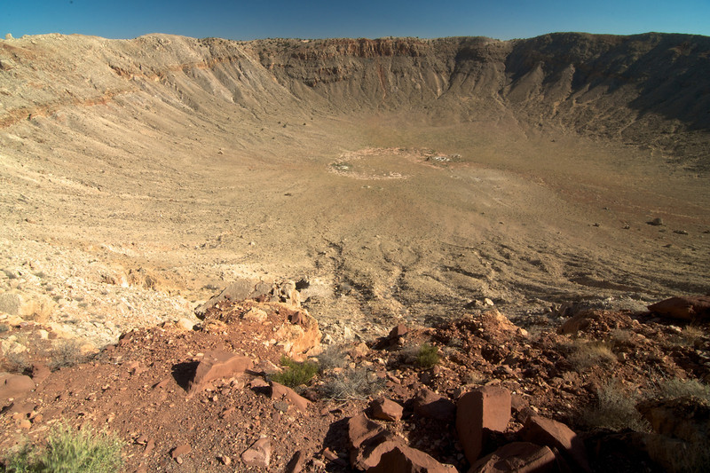 This is the first confirmed crater due to the impact of a meteor.  The crater measures some 4000 feet (0.7 miles) wide.  It was used extensively to train astronauts of the Apollo program.