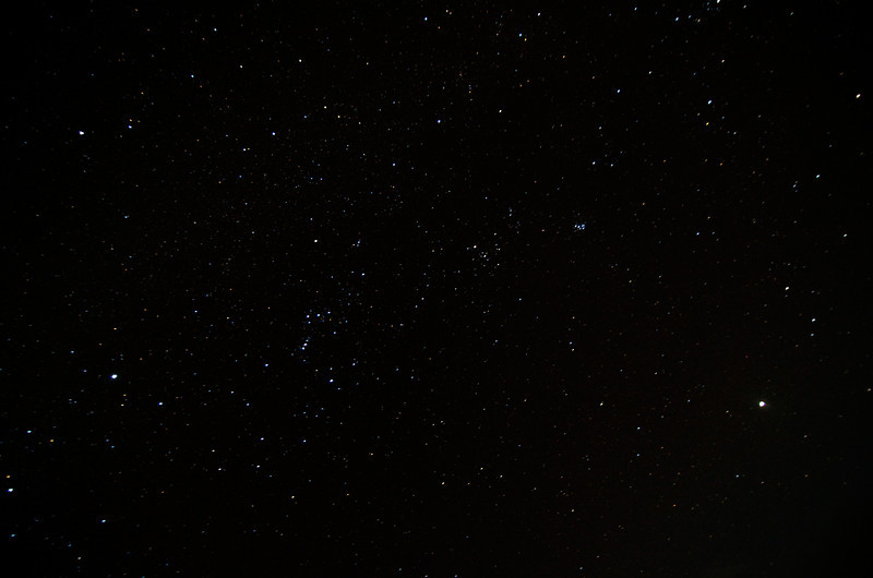 Orion left of center.  Jupiter in lower right.