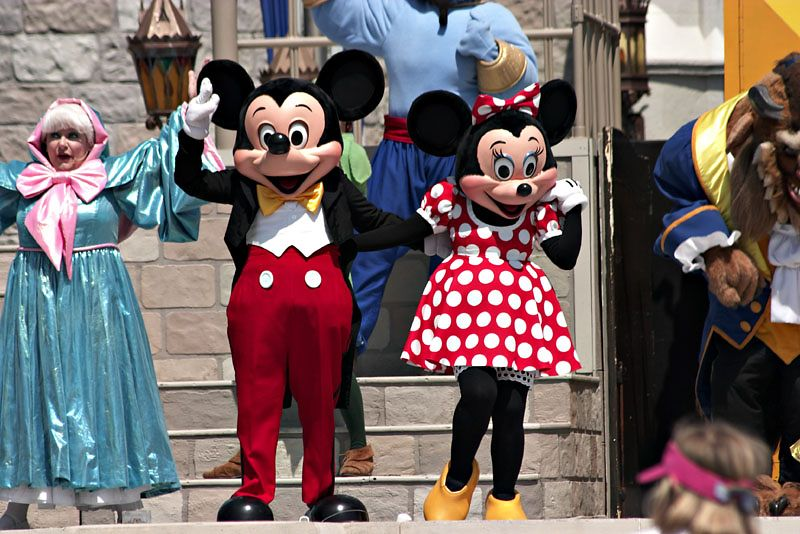 Mickey and Minnie and Friends
