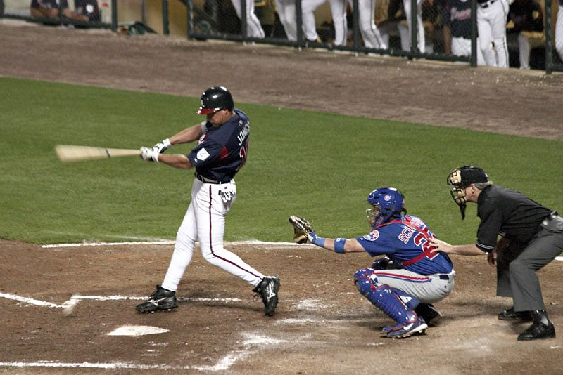 Chipper Jones Foul Tip