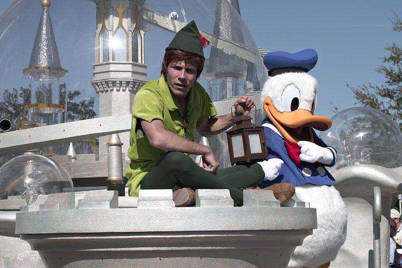 Peter Pan and Donald