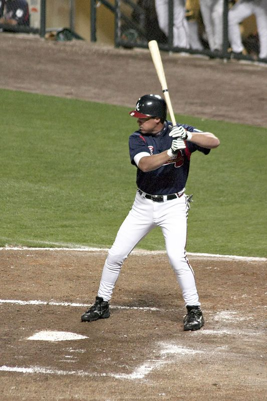 Chipper Jones at Braves vs. Expos Spring Training Game at Disney's Wide World of Sports