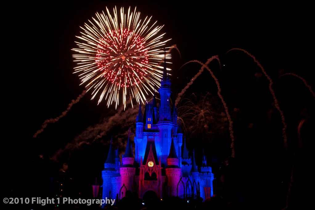 Fireworks over Cinderella's Castle