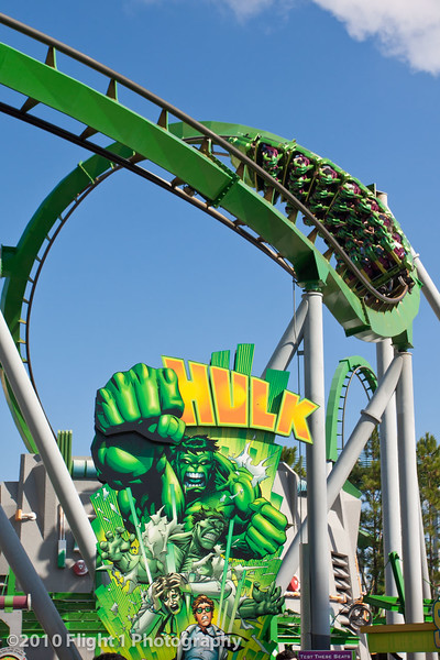 Universal Islands of Adventure - The Hulk roller coaster