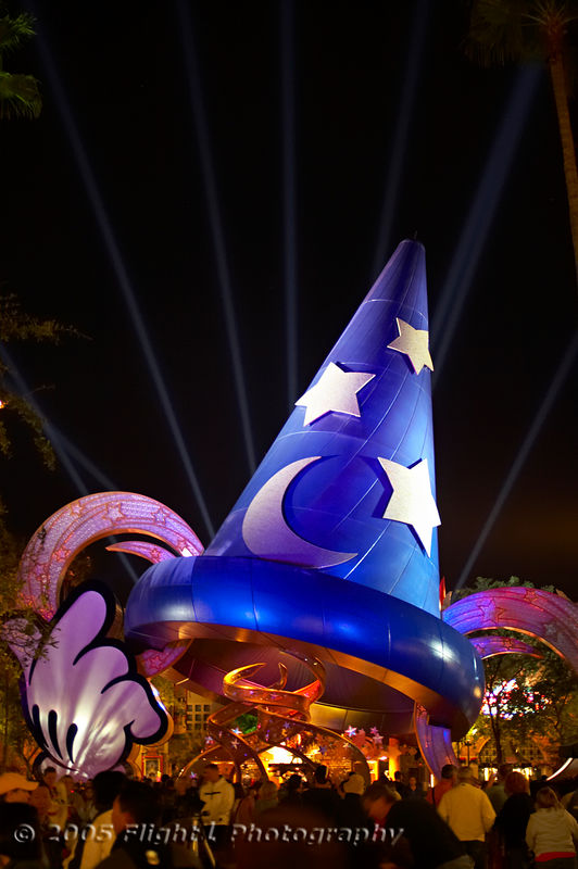 The Sorcerer's Hat at Night