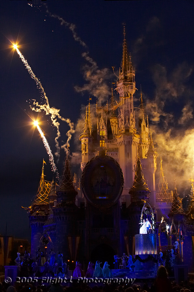 Fireworks at the conclusion of Cinderellabration